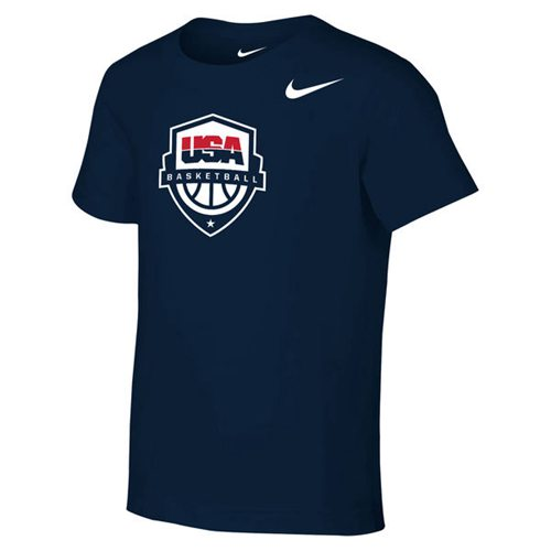 Team USA Nike Preschool Core Cotton T-Shirt Navy