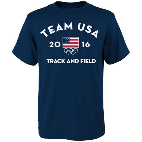 Team USA Track and Field NGB Very Official National Governing Body T-Shirt Navy