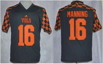 Tennessee Vols #16 Peyton Manning Grey Adidas Event Stitched NCAA Jersey
