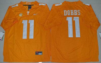 Tennessee Vols 11 Joshua Dobbs Orange College Jersey