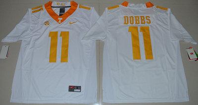 Tennessee Vols 11 Joshua Dobbs White College Jersey
