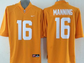 Tennessee Volunteers 16 Peyton Manning Orange College Football Techfit NCAA Jerseys