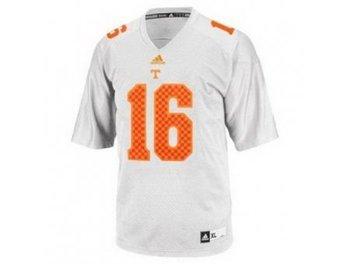 Tennessee Volunteers 16 Peyton Manning White College Football Techfit NCAA Jerseys