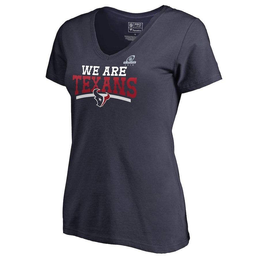 Texans Navy Women's 2018 NFL Playoffs We Are Texans T-Shirt