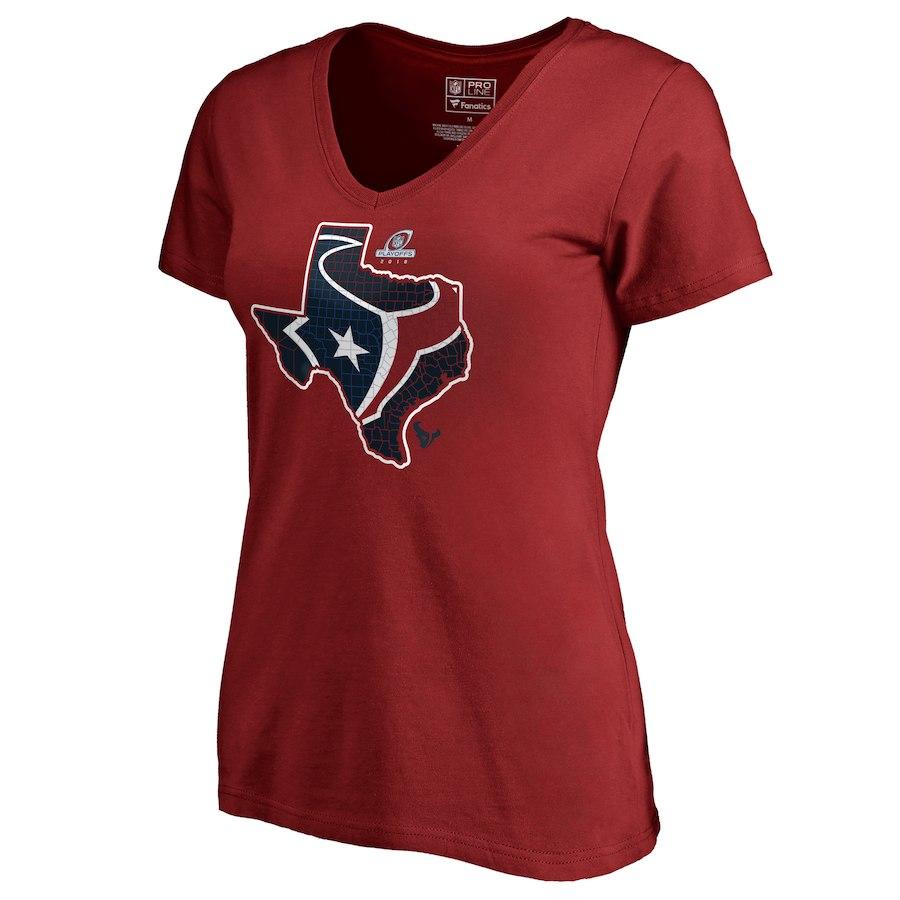 Texans Red Women's 2018 NFL Playoffs T-Shirt