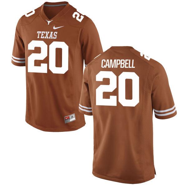 Texas Longhorns 20 Earl Campbell Orange Nike College Jersey