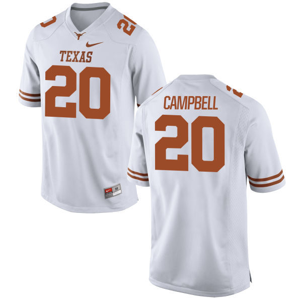 Texas Longhorns 20 Earl Campbell White Nike College Jersey