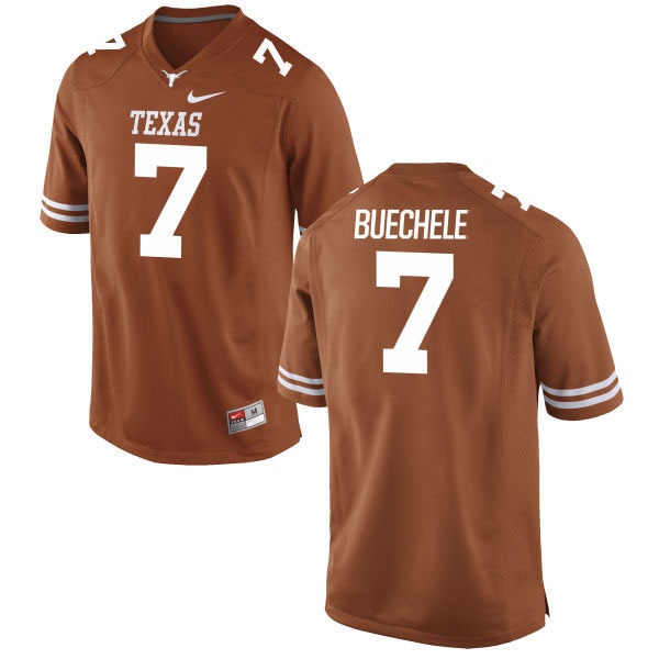 Texas Longhorns 7 Shane Buechele Orange Nike College Jersey