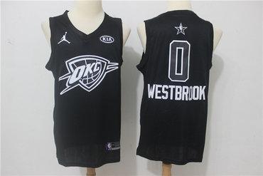 Thunder 0 Russell Westbrook Black 2018 All-Star Game Swingman Jersey