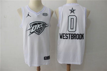 Thunder 0 Russell Westbrook White 2018 All-Star Game Swingman Jersey