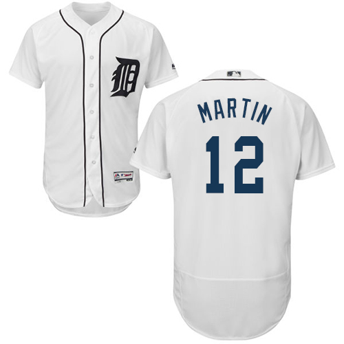 Tigers #12 Leonys Martin White Flexbase Authentic Collection Stitched Baseball Jersey