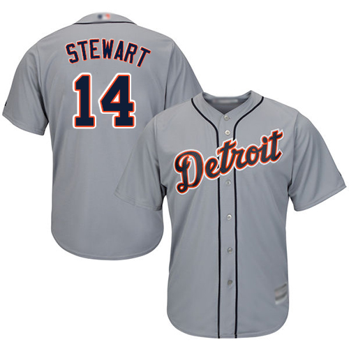 Tigers #14 Christin Stewart Grey Cool Base Stitched Youth Baseball Jersey
