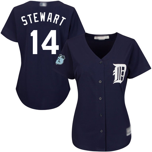 Tigers #14 Christin Stewart Navy Blue Alternate Women's Stitched Baseball Jersey