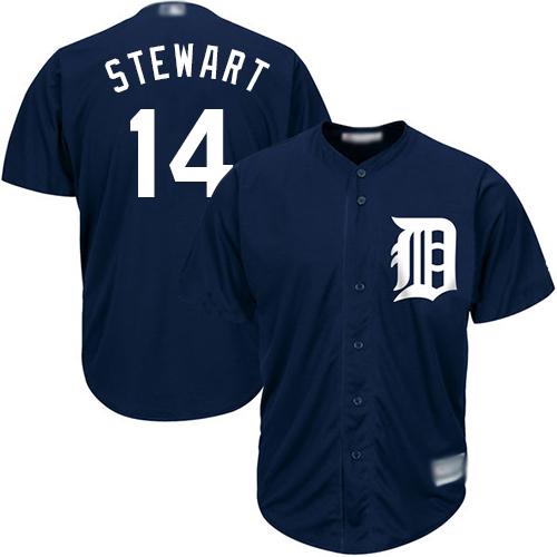 Tigers #14 Christin Stewart Navy Blue Cool Base Stitched Youth Baseball Jersey