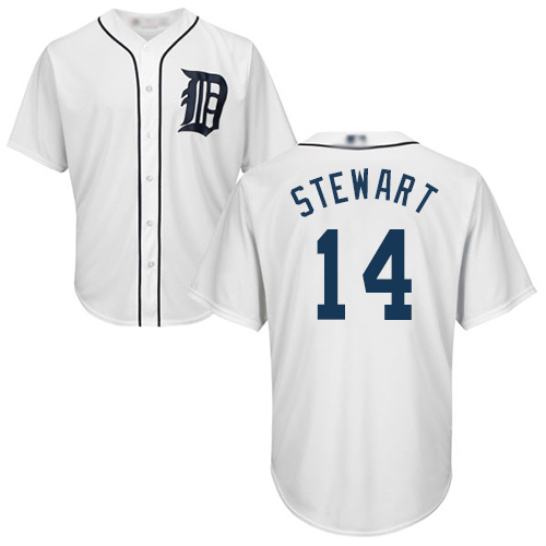 Tigers #14 Christin Stewart White Cool Base Stitched Youth Baseball Jersey