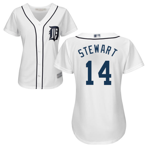 Tigers #14 Christin Stewart White Home Women's Stitched Baseball Jersey