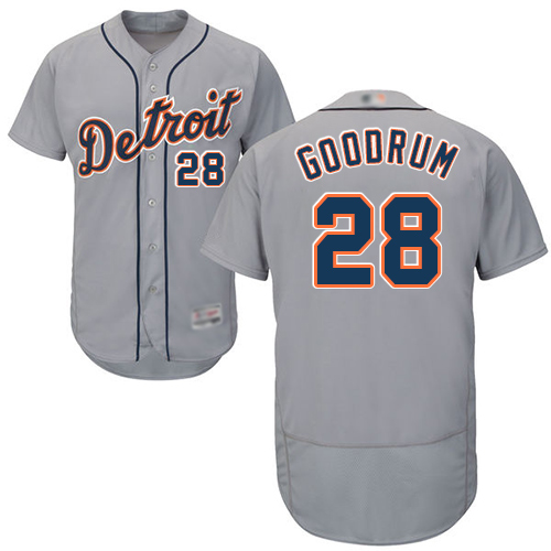 Tigers #28 Niko Goodrum Grey Flexbase Authentic Collection Stitched Baseball Jersey