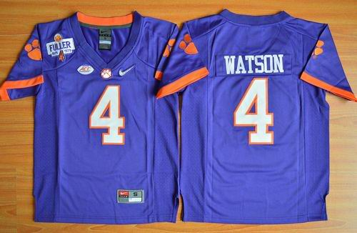 Tigers #4 Deshaun Watson Purple 2016 National Championship Stitched Youth NCAA Jersey