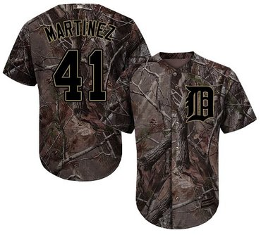 Tigers #41 Victor Martinez Camo Realtree Collection Cool Base Stitched Baseball Jersey
