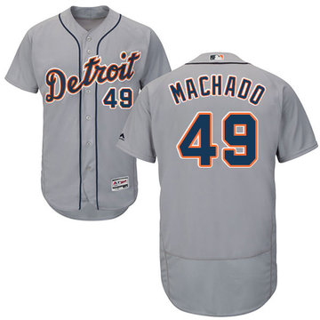 Tigers #49 Dixon Machado Grey Flexbase Authentic Collection Stitched Baseball Jersey