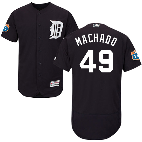 Tigers #49 Dixon Machado Navy Blue Flexbase Authentic Collection Stitched Baseball Jersey