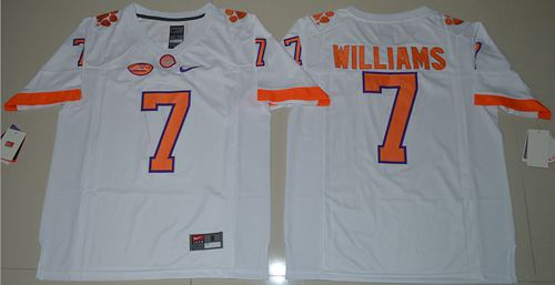 Tigers #7 Mike Williams White Limited Stitched NCAA Jersey