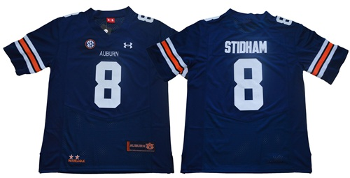 Tigers #8 Jarrett Stidham Blue Limited Stitched NCAA Jersey
