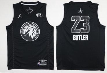 Timberwolves 23 Jimmy Butler Balck 2018 All-Star Game Swingman Jersey