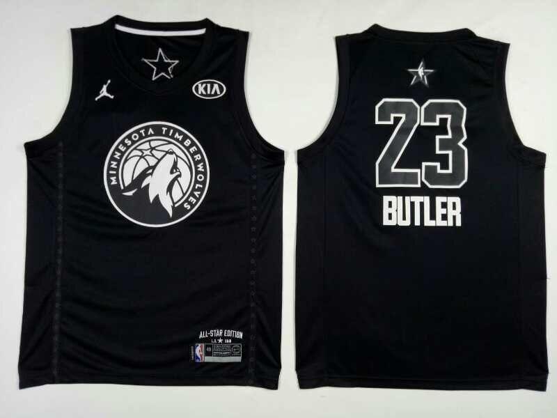 Timberwolves 23 Jimmy Butler Black 2018 All-Star Game Jordan Brand Authentic Jersey