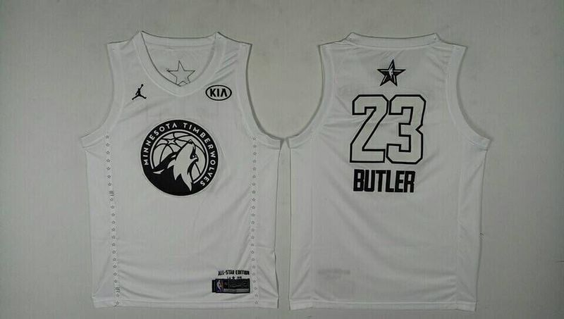 Timberwolves 23 Jimmy Butler White 2018 All-Star Game Jordan Brand Authentic Jersey