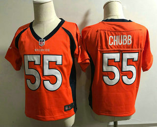 Toddler Denver Broncos #55 Bradley Chubb Orange Team Color Stitched NFL Nike Game Jersey