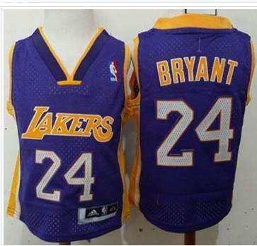 Toddler Lakers #24 Kobe Bryant Purple Stitched NBA Jersey