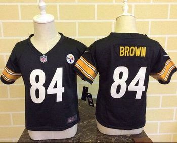 Toddler Nike Pittsburgh Steelers #84 Antonio Brown Black Team Color Stitched NFL Elite Jersey