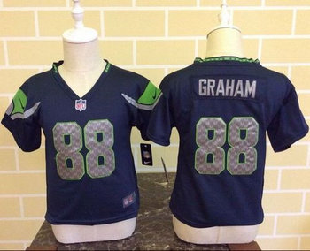 Toddler Nike Seattle Seahawks #88 Jimmy Graham Steel Blue Team Color Stitched NFL Elite Jersey