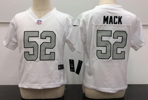 Toddler Oakland Raiders #52 Khalil Mack White 2016 Color Rush Stitched NFL Nike Jersey