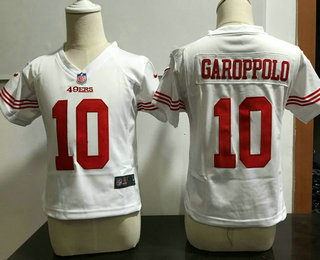 Toddler San Francisco 49ers #10 Jimmy Garoppolo White Road NFL Nike Jersey