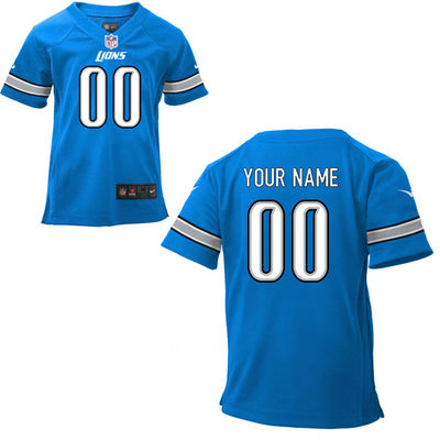 Toddlers Nike Detroit Lions Infant Customized Game Team Color Jersey