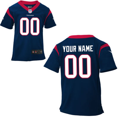 Toddlers Nike Houston Texans Infant Customized Game Team Color Jersey