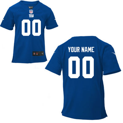 Toddlers Nike New York Giants Infant Customized Game Team Color Jersey