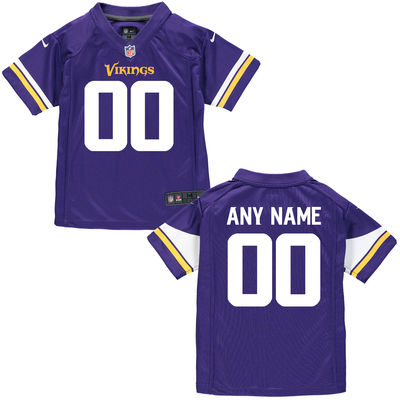 Toddlers Nike Toddler Minnesota Vikings Customized Team Color Game Jersey