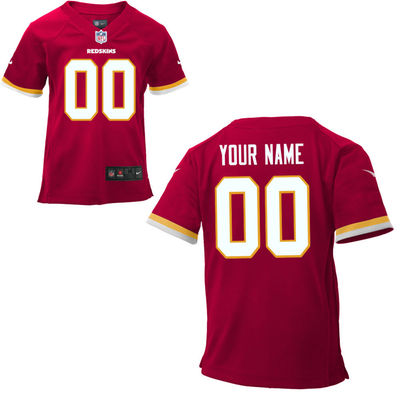 Toddlers Nike Washington Redskins Infant Customized Game Team Color Jersey