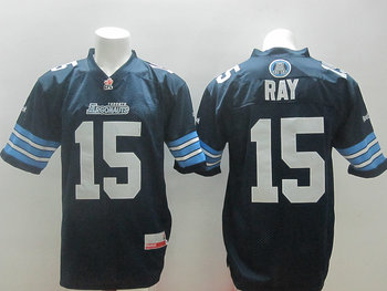 Toronto Argonauts Ray #15 blue jerseys
