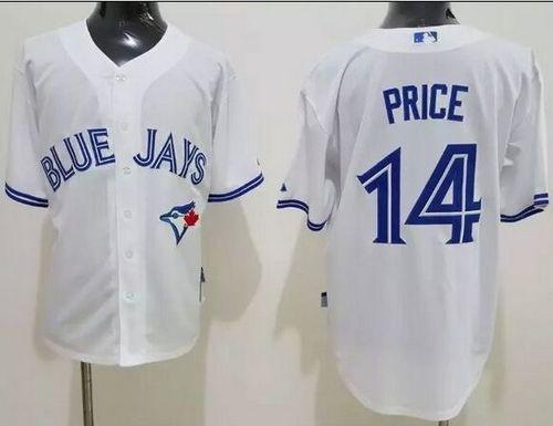 Toronto Blue Jays #14 David Price White Cool Base Stitched Baseball Jersey