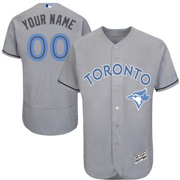 Toronto Blue Jays Gray Father's Day Men's Flexbase Customized Jersey