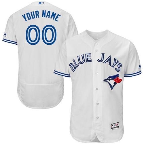 Toronto Blue Jays White Men's Flexbase Customized Jersey