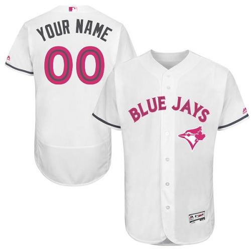 Toronto Blue Jays White Mother's Day Men's Flexbase Customized Jersey