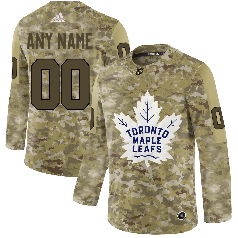 Toronto Maple Leafs Camo Men's Customized Adidas Jersey