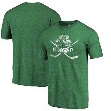Toronto St. Pats Fanatics Branded Green Vintage Collection Line Shift Tri Blend T-Shirt