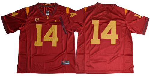 Trojans #14 Sam Darnold Red Limited Stitched NCAA Jersey