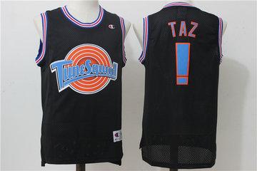 Tune Squad ! Taz Black Stitched Movie Jersey